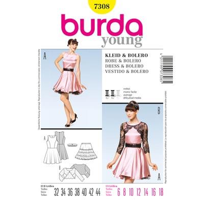 Retro-Kleid / Bolero, Burda 7308