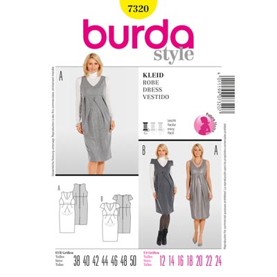 Umstandskleid, Burda 7320 | 38 - 50