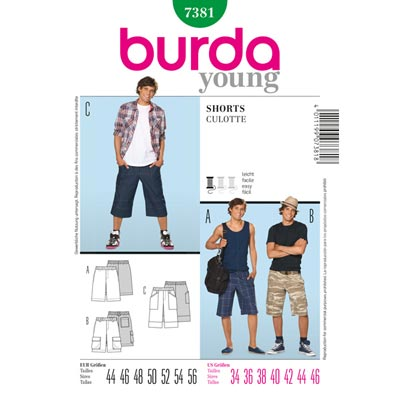 Shorts | Freizeithose, Burda 7381 | 44 - 56