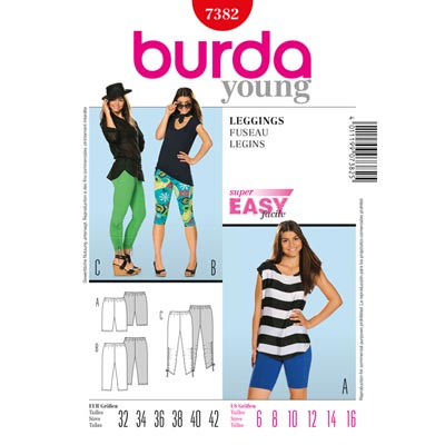 Leggings, Burda 7382 | 32 - 42
