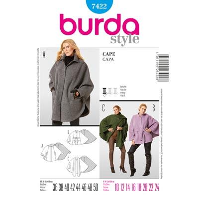 Cape, Burda 7422 | 36 - 50