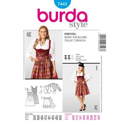 Dirndl, Burda 7443 | 36 - 50