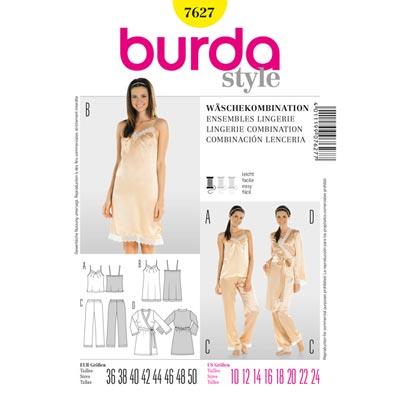 Wäschekombination, Burda 7627 | 36 - 50
