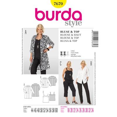 Bluse / Top, Burda 7670