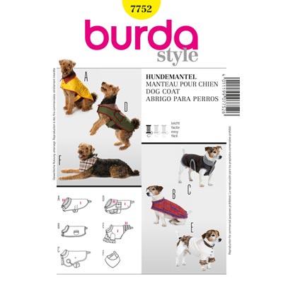 Hundemantel, Burda 7752 | S - L
