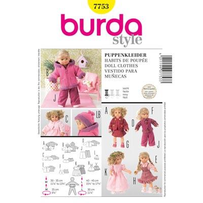 Puppenkleider, Burda 7753