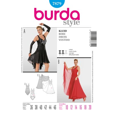 Tanzkleid, Burda 7879 | 36 - 46