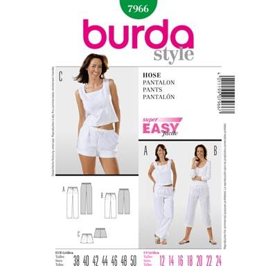 Hose, Burda 7966 | 38 - 50