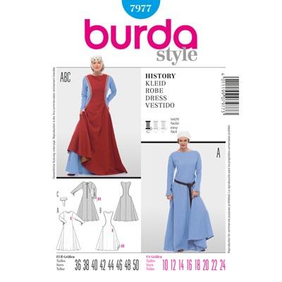 Burgdame | Königin | Magd, Burda 7977 | 36 - 50