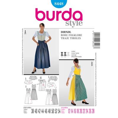 Dirndl, Burda 8448 | 38 - 54