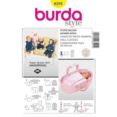 Puppenkleider, Burda 8591