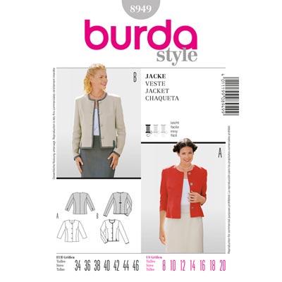 Kurzjacke, Burda 8949 | 34 - 46