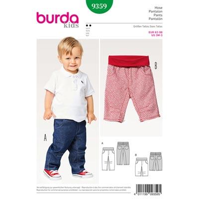 Babyhose, Burda 9359 | 62 - 98