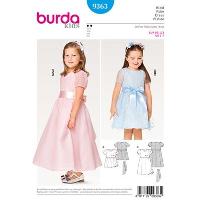 Kinderkleid, Burda 9363 | 92 - 122