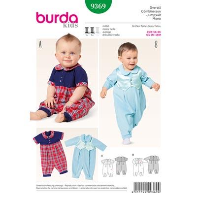 Baby-Overall, Burda 9369 | 56 - 86