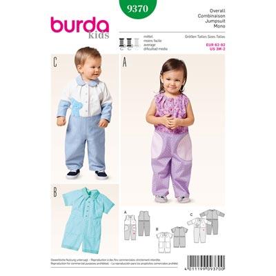 Kleinkind-Overall, Burda 9370