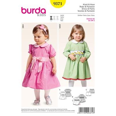 Kleid | Hose, Burda 9371 | 62 - 92