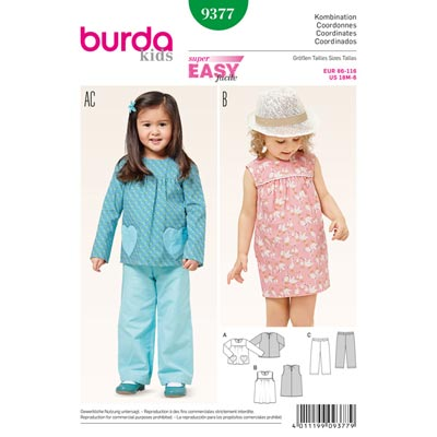 Kombination, Burda 9377 | 86 - 116