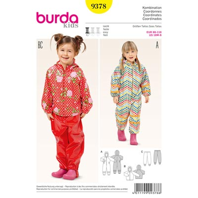 Kombination, Burda 9378 | 86 - 116