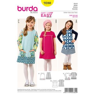 Kleid, Burda 9380 | 110 - 140