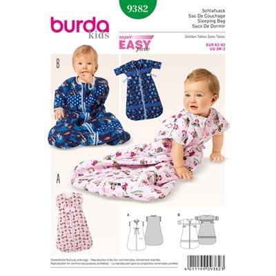 Schlafsack, Burda 9382 | 62 - 92