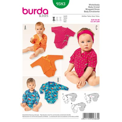 Wickelbody, Burda 9383 | 56 - 86