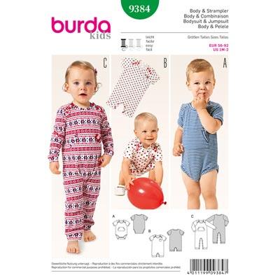 Body | Strampler, Burda 9384 | 56 - 92
