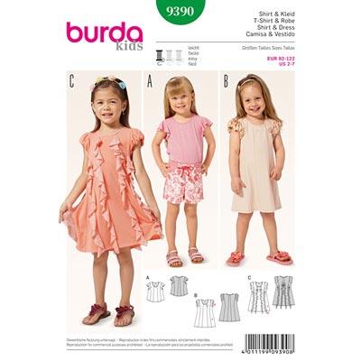 Shirt | Kleid, Burda 9390 | 92 - 122