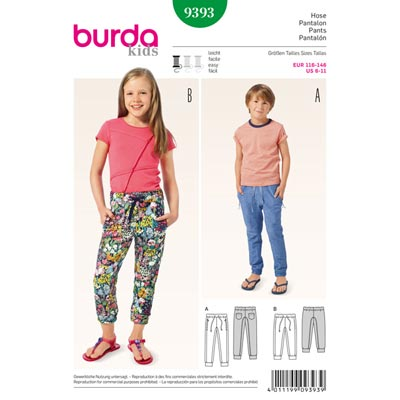 Hose, Burda 9393 | 116 - 146