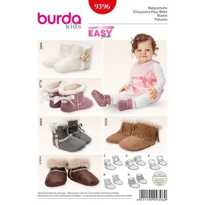 Babyschuhe, Burda 9396 | Sohlenlänge:12cm