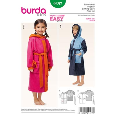 Bademantel, Burda 9397
