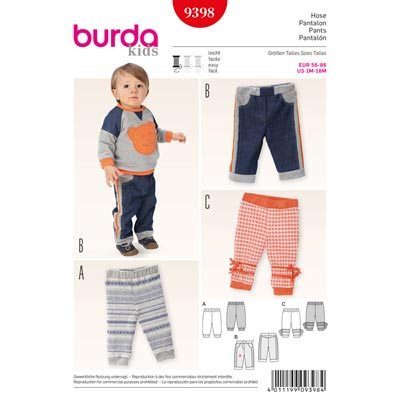 Hose, Burda 9398 | 56 - 86