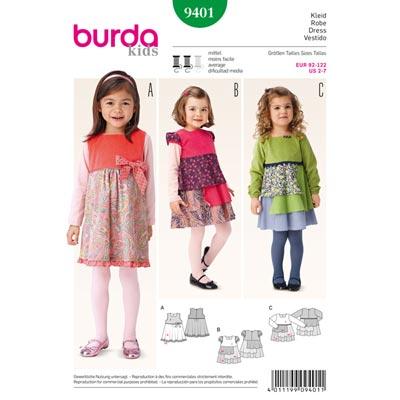 Kleid, Burda 9401 | 92 - 122