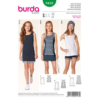 Shirt / Kleid / Top, Burda 9418