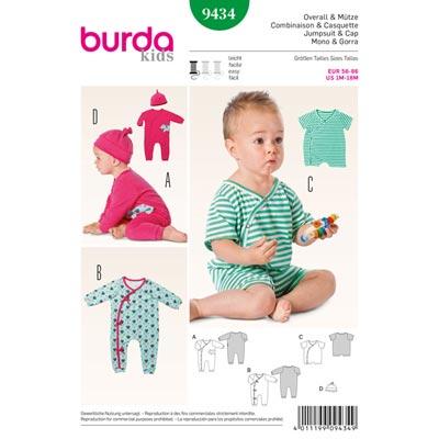 Overall | Mütze, Burda 9434 | 56 - 86