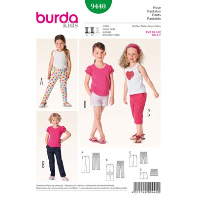 Hose / ¾ Hose / Shorts, Burda 9440