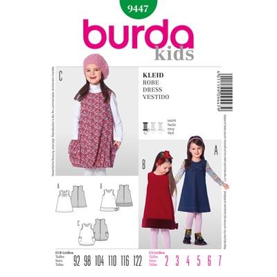 Kinderkleid, Burda 9447 | 92 - 122