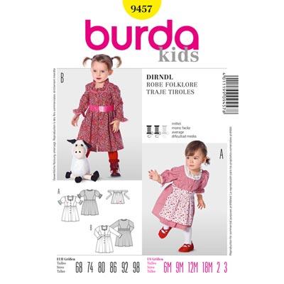 Baby-Dirndlkleid, Burda 9457
