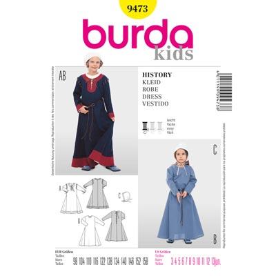 Historisches Kinderkostüm, Burda 9473 | 98 - 158
