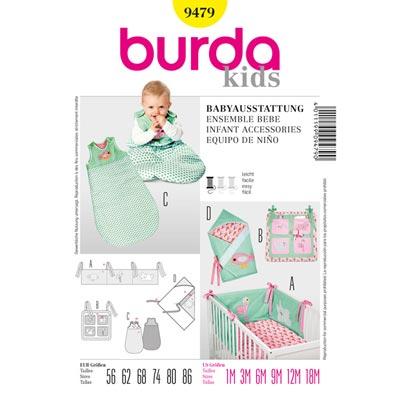 Babykombination: Nestchen | Utensilo…, Burda 9479 | 56 - 86