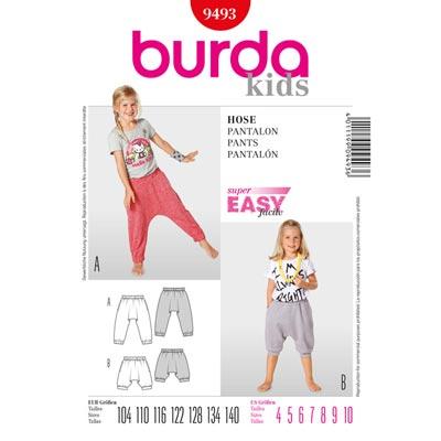 Sarouelhose, Burda 9493 | 104 - 140