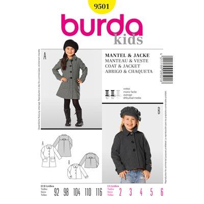 Mantel | Jacke, Burda 9501 | 92 - 116