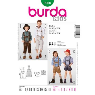 Trachtenlederhose für Jungen, Burda 9508 | 104 - 140