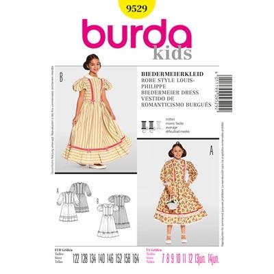 Kinderkleid Biedermeier, Burda 9529 | 122 - 164