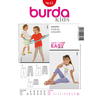 Leggings, Burda 9615 | 98 - 158