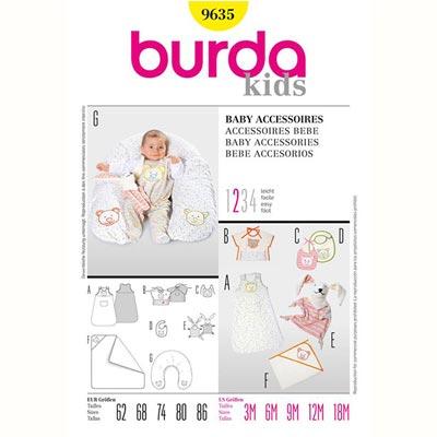 Baby Accessoires, Burda 9635 | 62 - 86