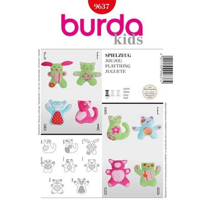 Kuscheltiere, Burda 9637