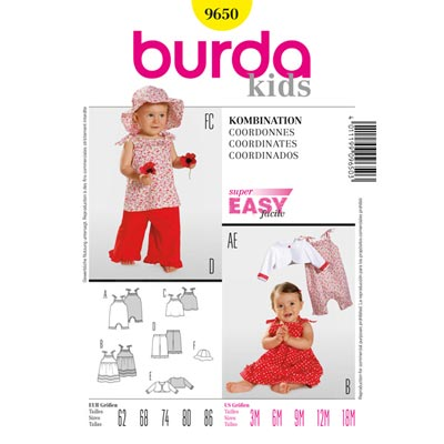 Kombination, Burda 9650 | 62 - 86