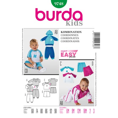 Kombination, Burda 9748 | 68 - 98