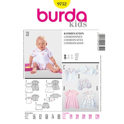 Kombination, Burda 9752 | 56 - 80